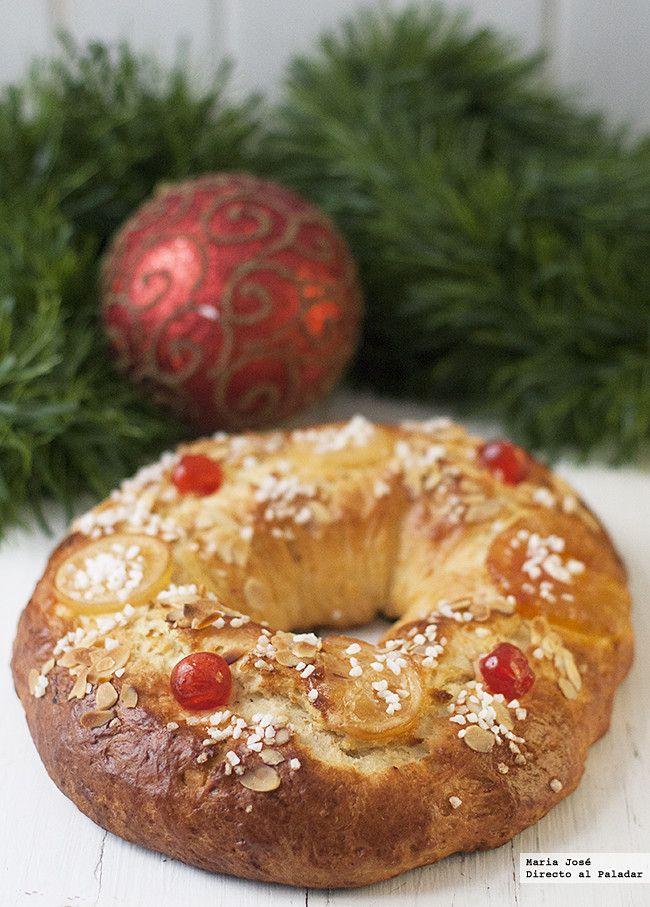 Cómo hacer un roscón de Reyes fácil. Receta de Navidad. Fotos con el paso a paso del proceso de elaboración. Sugerencia de presentación. Truco...