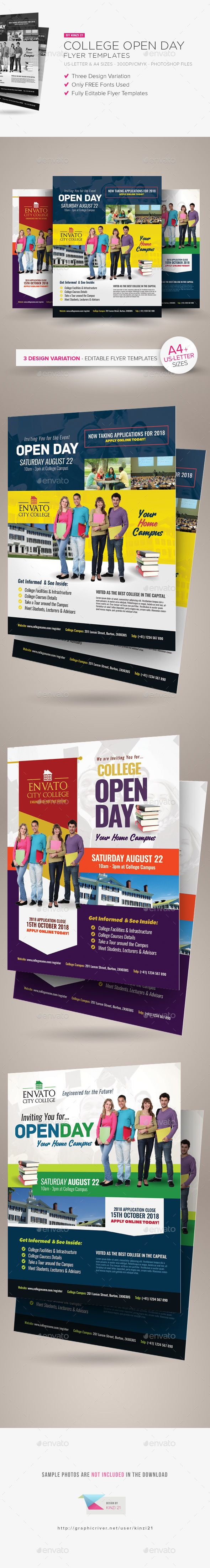 best images about flyer templates roofing college open day flyer templates