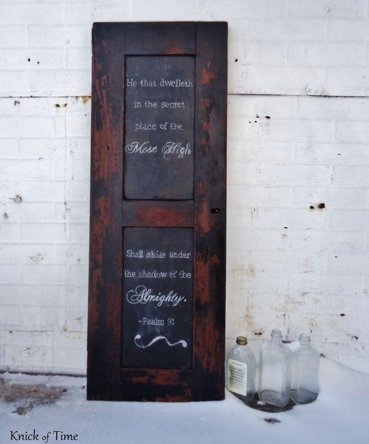 Antigue Door Chalkboard : Repurposed antique secretary cabinet door into chalkboard