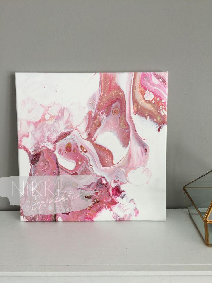 "12""x12"" original acrylic pour painting art 0.75"" canvas, fluid art, dirty pour, acrylic painting, contemporary art, original art SERENITY by NikkiSpracklin on Etsy https://www.etsy.com/ca/listing/585750880/12x12-original-acrylic-pour-painting-art"
