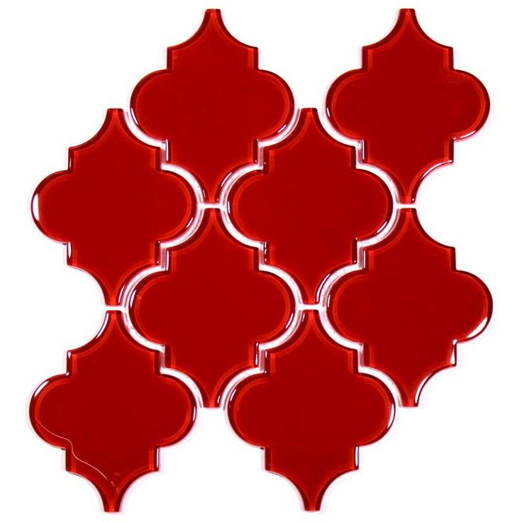 Glass Arabesque Tile (Ruby Red). $18.77 Per Sheet from Wholesalers USA