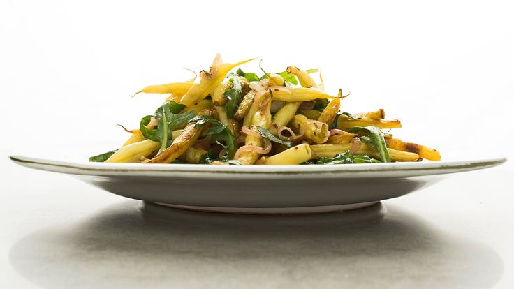 Seared Yellow Wax Beans and Arugula