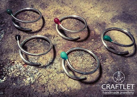 Sterling silver matchstick rings!!!  #handmade #silver #ioannina #ring #jewellery