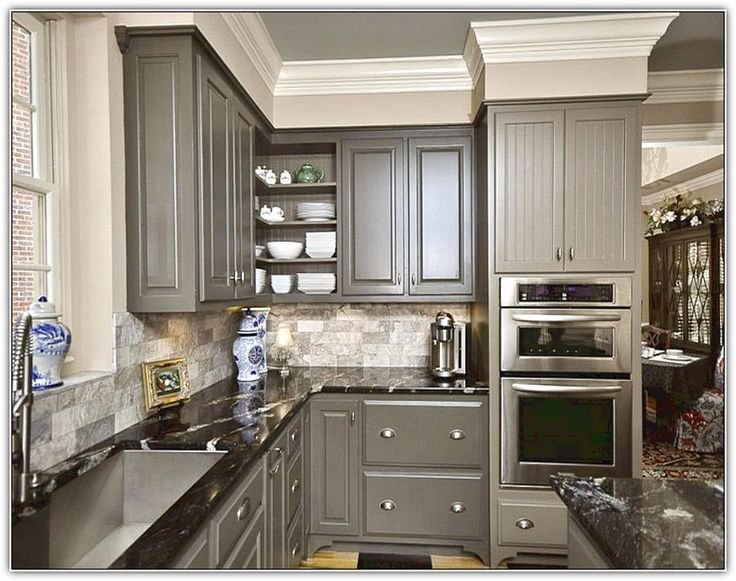 Best Gray Kitchen Cabinets Wall Color Dovetail And Agreeable 640 x 480