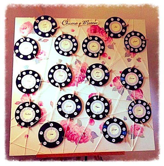 Tableau realizzato con dischi in vinile!