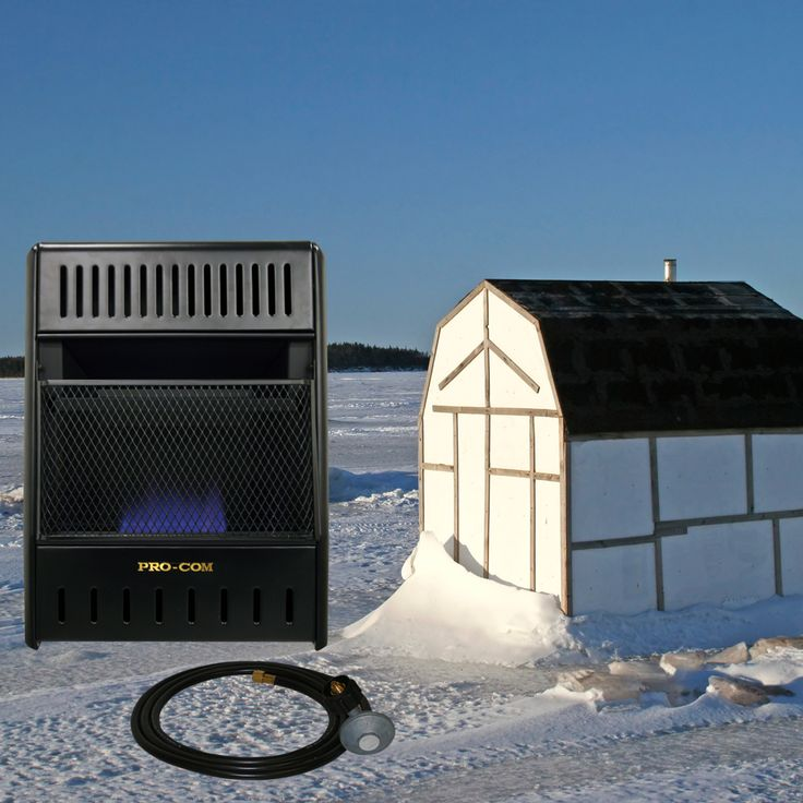 Procom heating 39 s liquid propane vent free ice house heater for Fish house heaters