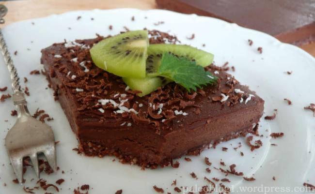 čokoládový paleo koláč
