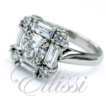 Good stuff with baguettes! This makes for a big show of diamonds on the hand and baguettes aren't as costly as other gemstones so they are pretty good value too. WARNING! This kind of ring is not easy to make well so I may try to talk you out of it … maybe. #jewellery #ring #wedding #ellissijewellery