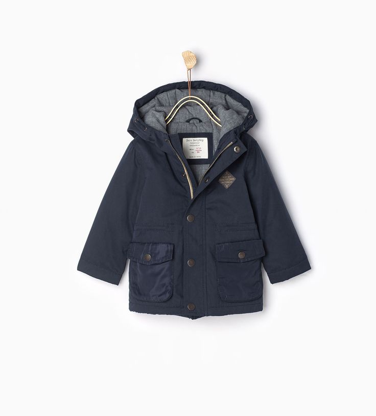 Contrast parka-JACKETS-BABY BOY | 3 months-3 years-KIDS | ZARA United States