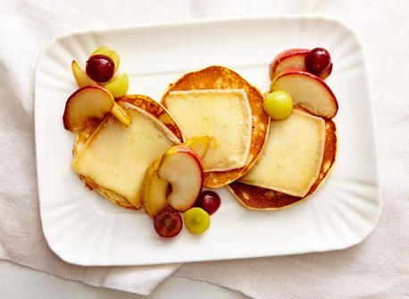 Raclette cheese pancakes with fruit recipe | All You Need is Cheese