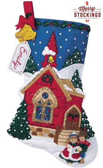 O' Holy Night Carolers Bucilla Felt Christmas Stocking Kit