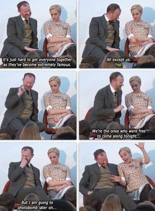 """Except us.""--- *snort* I love her impression of Ben. It's perfection. Ehehehehe!!!"
