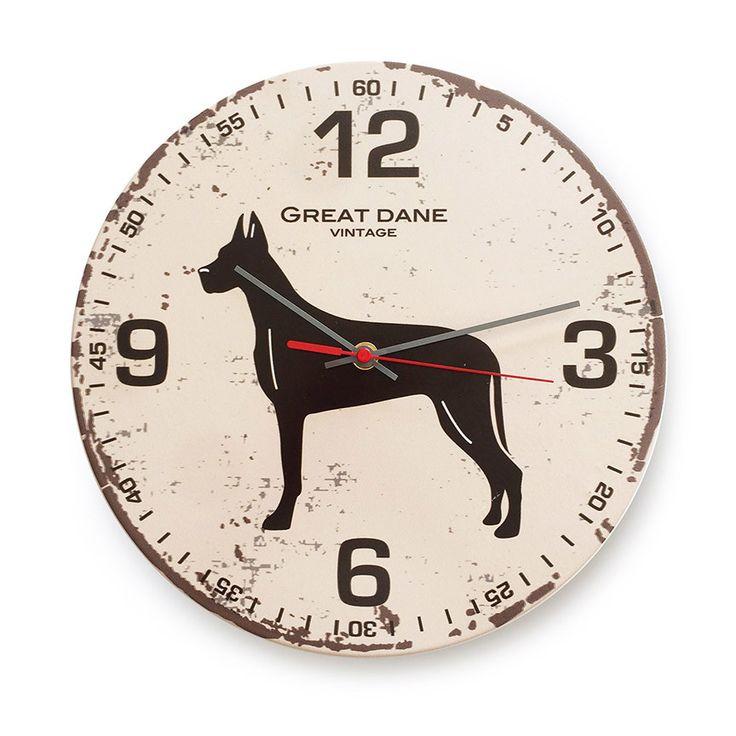 "12"" Great Dane Vintage Wall Clock"