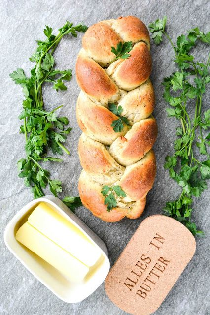 Garlic & Herb Braid Bread - Get In My Tummy!