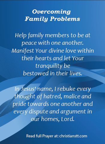 Prayer: Overcoming Family Problems