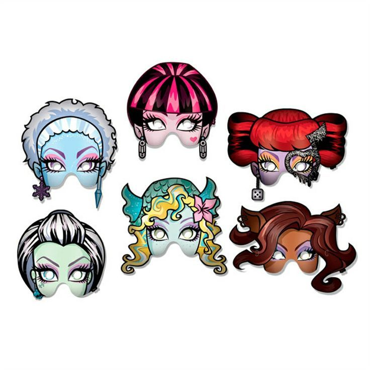 Monster high mask ideas monster high party pinterest monster high masks and monsters - Masque monster high ...