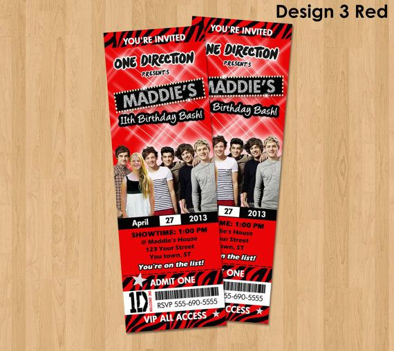 56 best one direction birthday images on pinterest | one direction, Printable invitations