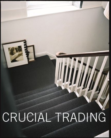 Crucial Trading grey sisal carpet for stairs