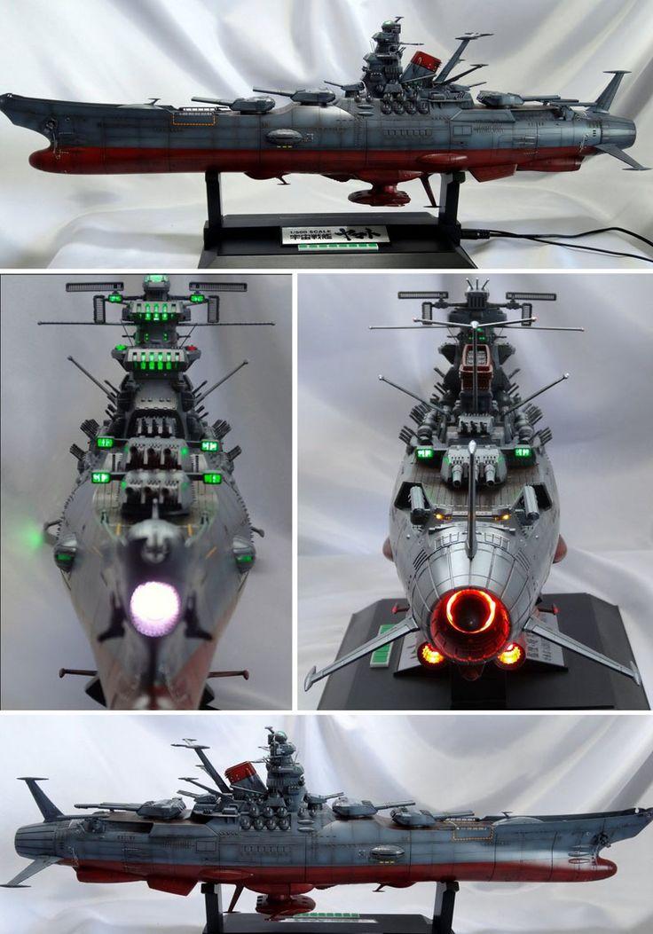 """1/500scale Bandai Yamato model, customized by """"Nicochan"""