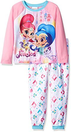 ec92e3bd5ab9 Nickelodeon Big Girls Shimmer and Shine 2-Piece Pajama Set | Girls ...