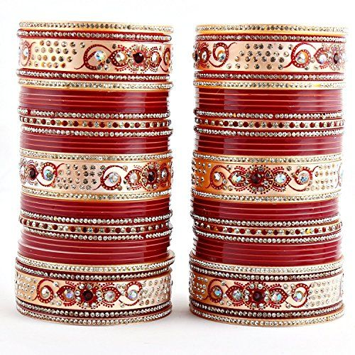 VVS Jewellers Red & White Bollywood Designer Maroon Chuda... https://www.amazon.com/dp/B072C37R9R/ref=cm_sw_r_pi_dp_x_Vy6jzb18P2G30
