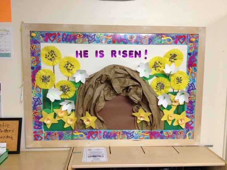 church christmas bulletin board ideas   Easter bulletin board   Church Bulletin Board Ideas