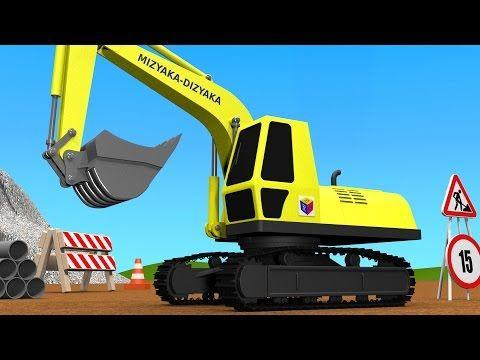 juego de construccin un camin de bomberos dibujos animados de camiones para nios en