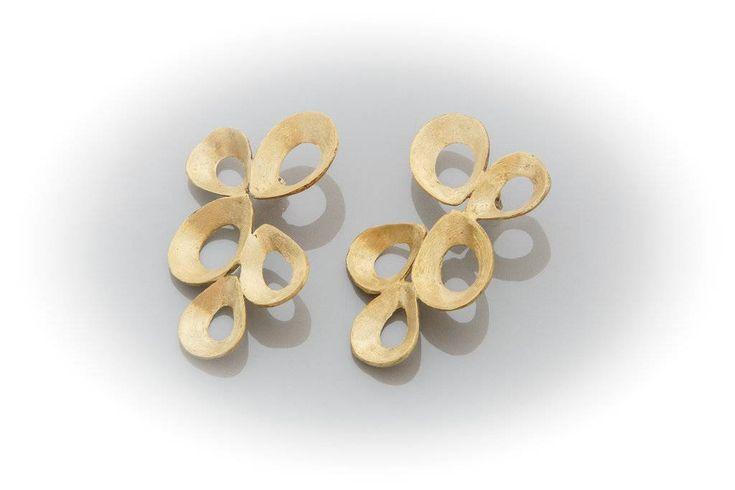 brass earrings by AtelierMarias on Etsy