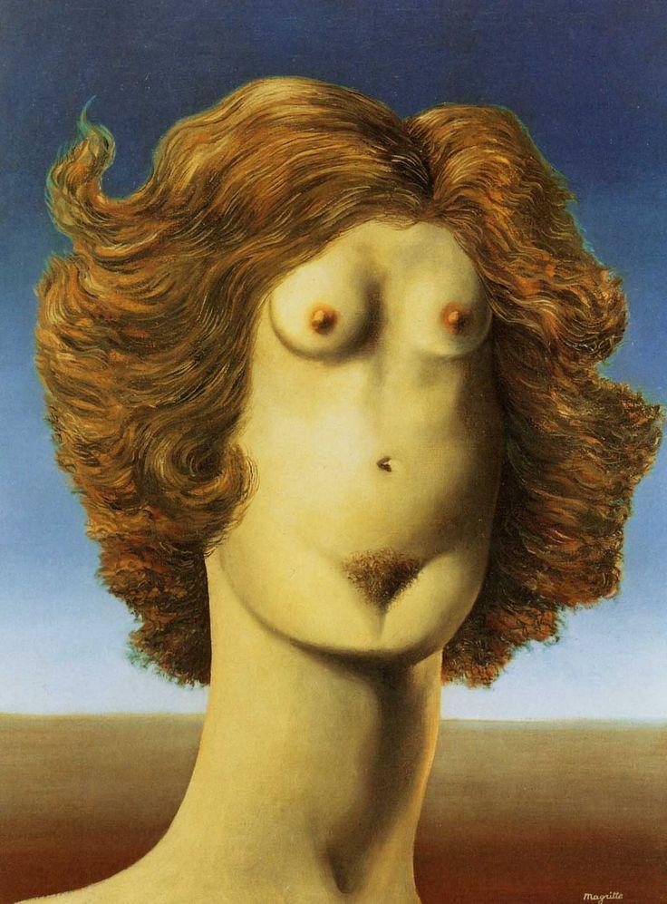 Rene Magritte - The Rape (1934)