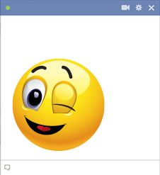 Winking emoticon for Facebook