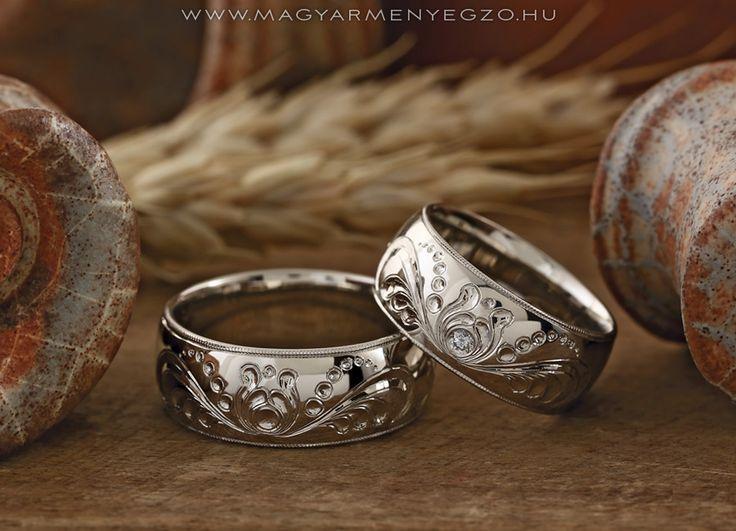 Liliomfi Variáció - karikagyűrű - wedding ring www.magyarmenyegzo.hu