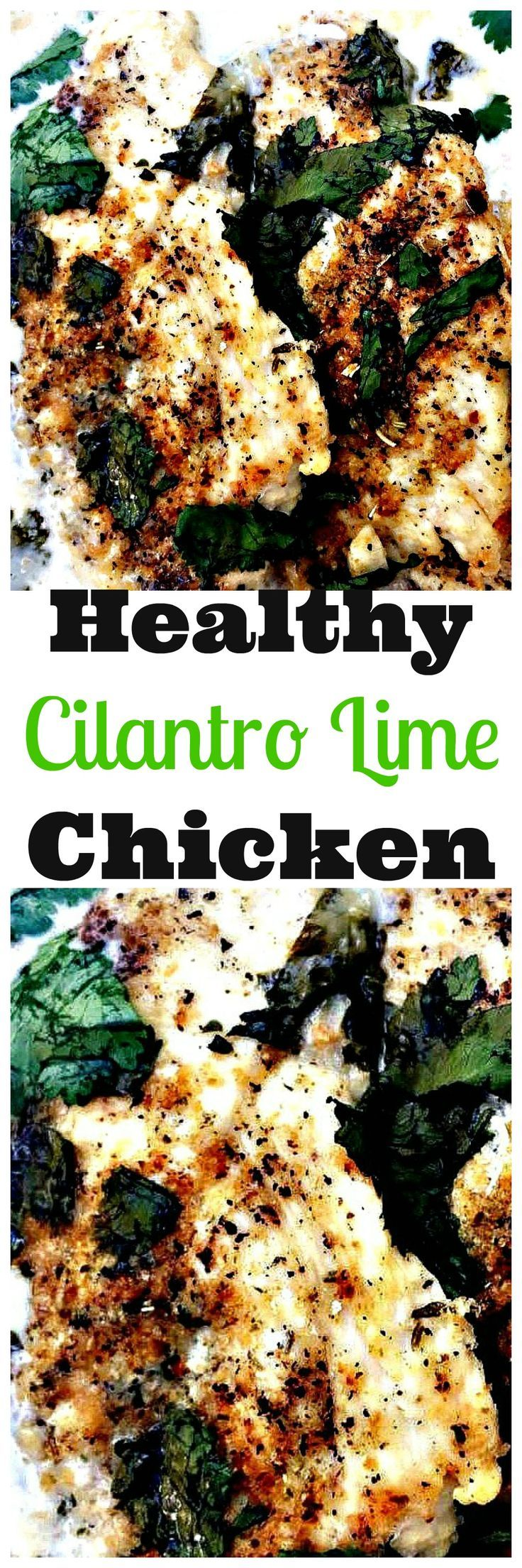 healthy, skinny, low-carb cilantro lime chicken