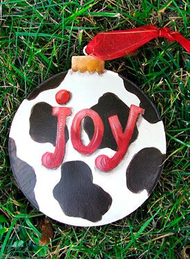 Cow Spot Ornaments  by Chris Haughey