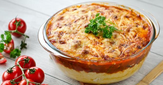 Recette de Polenta minceur façon Parmentier inversé à la tomate. Facile et rapide à réaliser, goûteuse et diététique.