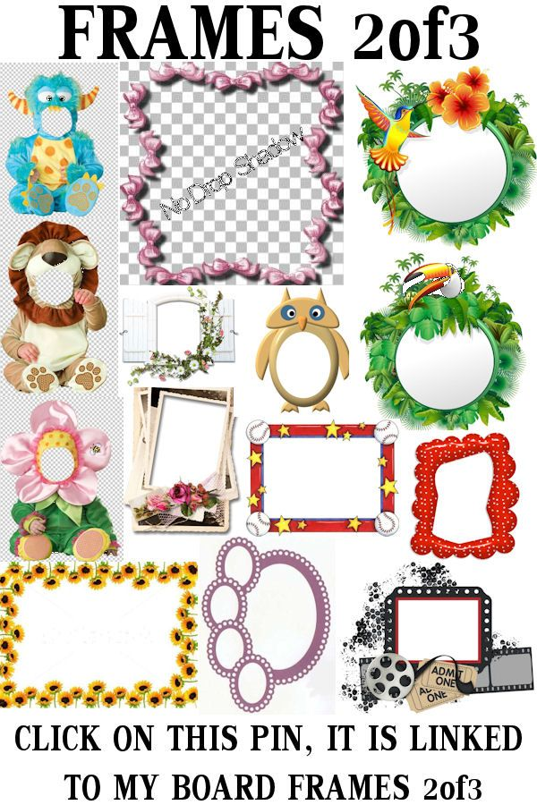 ✁EDiT FRAMEs2of3 ⌼▣⌺ ✁ClipArt CLICK ON THE PIN, IT IS LINKED TO THE BOARD!