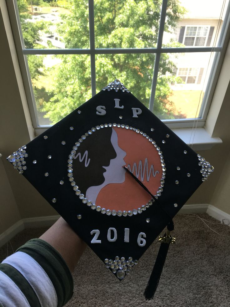 My cap design. Not too bad for a non-creative person! #SLP
