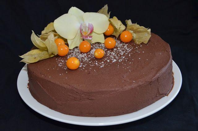 Mlsná máma : Čokoládovo-kokosový dort