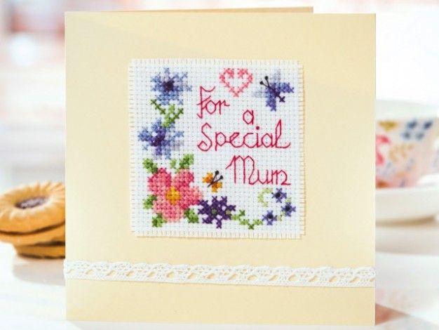 Free Mother's Day card chart! | Free Chart | Cross Stitching