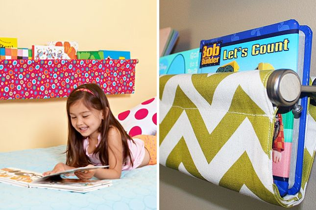 Book sling for a kid's bedroom | 40 No-Sew DIY Projects