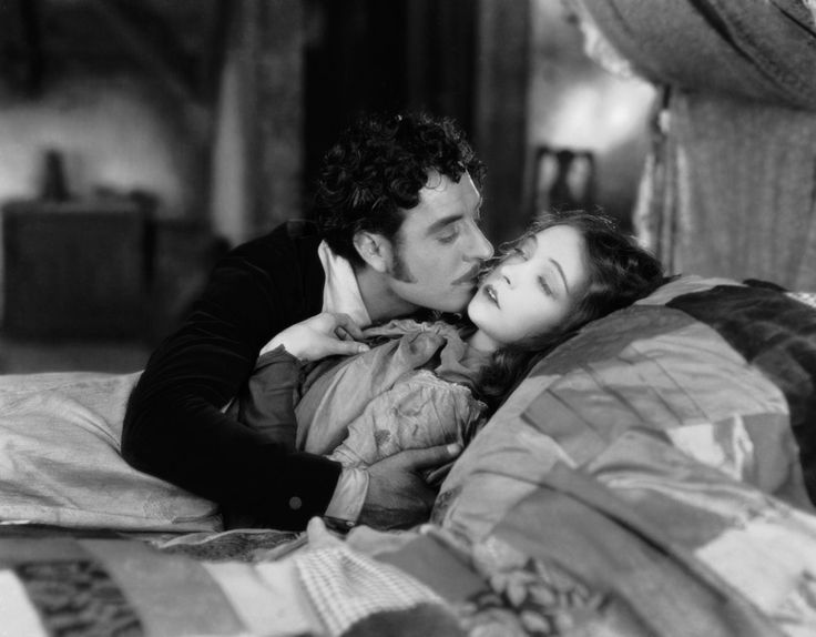 Lillian Gish and John Gilbert in La Boheme, directed by King Vidor, 1926