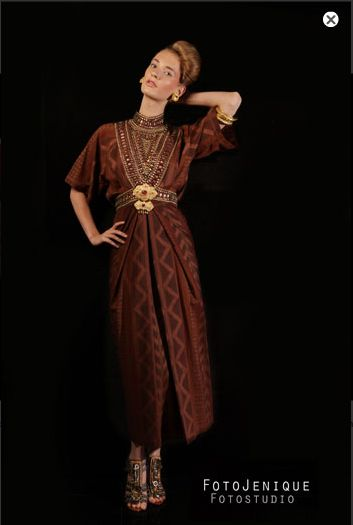 elegant and cool tenun dress