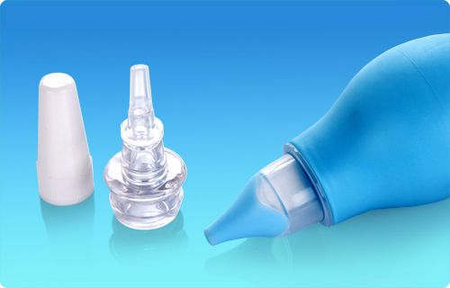 Health & Safety, Medical, Nasal Aspirator & Ear Syringe Set, The pediatrician recommended method for the immediate relief of nasal congestion in infants is aspiration. This simple, effective procedure uses the gentle suction provided by first squeezing the bulb portion of the aspirator then placing the end gently against baby's nostril and releasing the pressure on the bulb. Clear any matter from the tip after each suction.