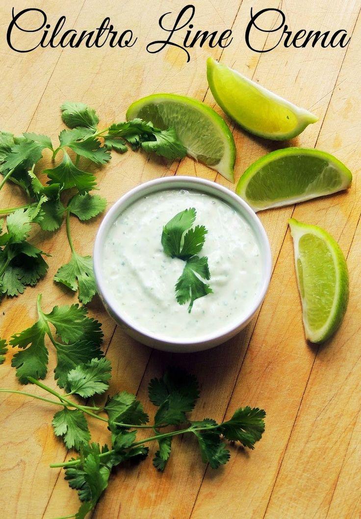 Bobbi's Kozy Kitchen: Cilantro Lime Crema - yogurt and mayo mix to cut calories but keep richness