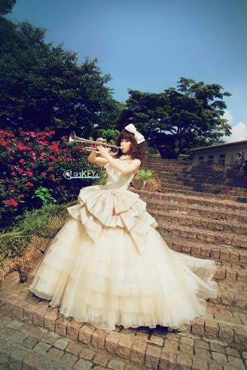 くみっきーウエディングドレス画像5