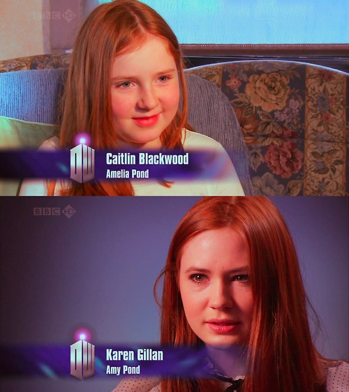 Did You Know ..... Caitlin Blackwood (who plays young Amelia Pond) is actually Karen Gillan's cousin.Karen O'Neil, Karen Gillan, Amelia Ponds, Caitlin Blackwood, Plays Young, Dr. Who, Alike, Young Amelia, Gillan Cousins