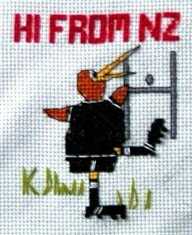 KIWI Conversion Cross Stitch Pattern  Measures 9.5 by KraftyKiwis