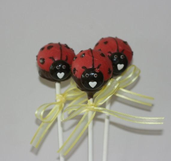 Lady Beetle Cake Pops