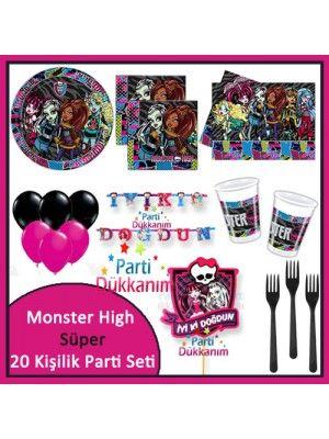 Monster High Süper Parti Seti (20 Kişilik)