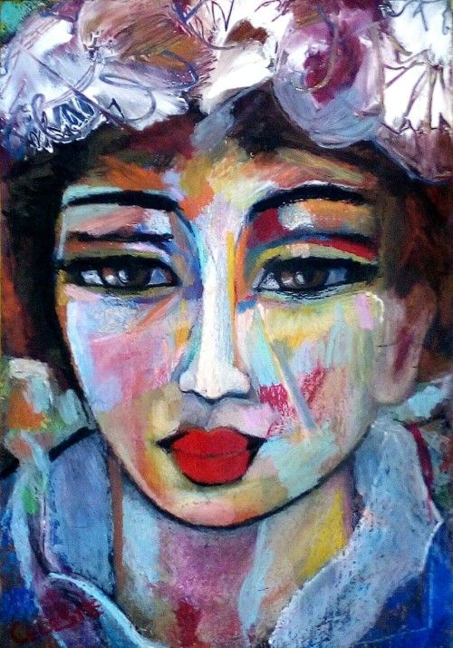 Paintings - JOHANNA - AN ORIGINAL PAINTING BY CELESTE FOURIE-WIID for sale in Hermanus (ID:290263792)