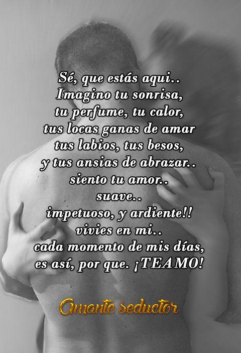 ABRAZAME Abrázame con ternura, amada mía, y envuelve mi rostro con tu anhelo, para abrir de par en par las apetencias y desatar las pasiones que llevamos dentro... #Amanteseductor #amantes #frases #beso #amor #pensamientos #reflexiones #citas #hablahispana #latino